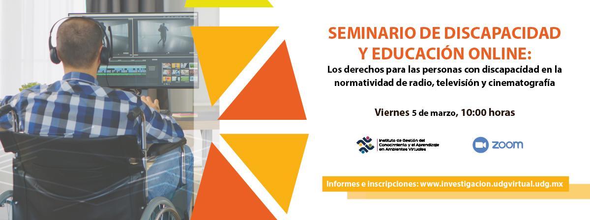 Seminario de discapacidad y educación online, 5 de marzo 10 horas