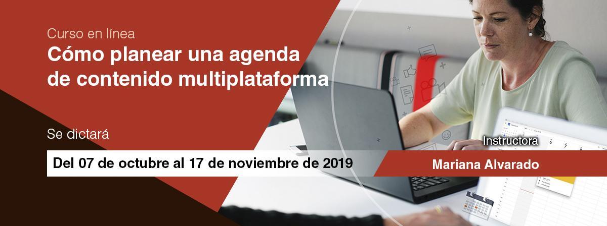 Curso en línea Cómo planear una agenda de contenido multiplataforma inicio 7 de octubre