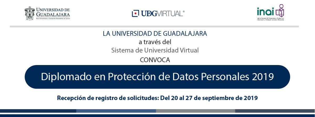 Diplomado en Protección de Datos Personales 2019 registro antes del 27 de septiembre