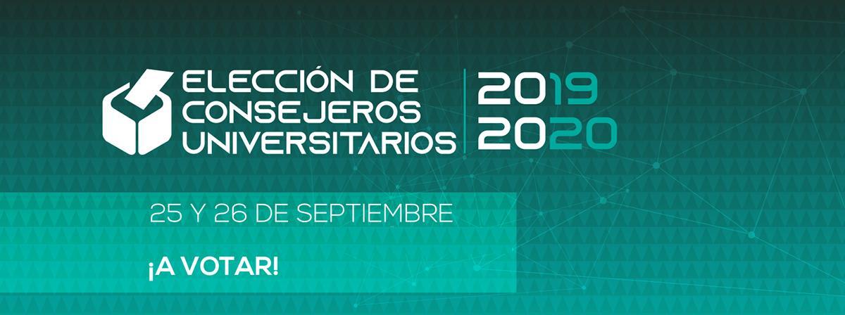 elecciones de consejeros universitarios 25 y 26 de septiembre